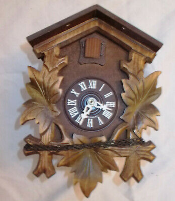 Black Forest Germany Cuckoo Clock For Parts With 3 Weights
