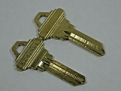 "2 Schlage Keys Original 5 Pin ""F"" Key Blanks OEM"