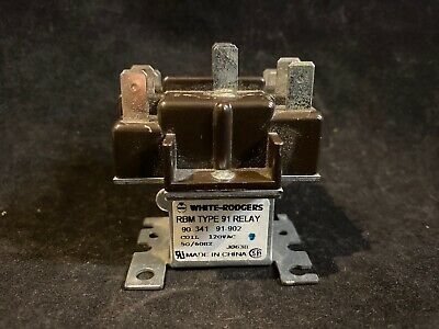 White Rodgers 90-341 RBM Type 91 2 Pole Switching Relay