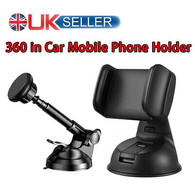 360 Universal In Car Mobile Phone Holder Mount Windscreen Dashboard Suction Home