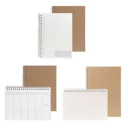 Planner Book Monthly Weekly Daily Agenda Schedule Blank Diary Study Notebook DIY