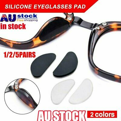 Silicone Anti-Slip Stick On Nose Pads for Eyeglass Sunglasses Glasses JO