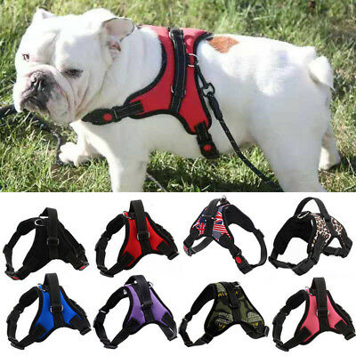 Adjustable Nylon No Pull Vest Harness Pet Dog Leash Collar Small/Medium/Large/XL