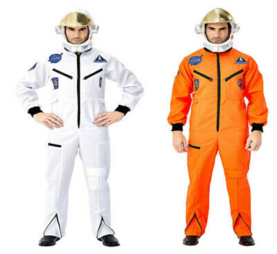 Halloween Astronaut Space Suit Hat Costume White Orange Suit Halloween Outfit