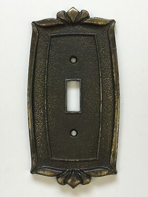 Vintage Donner 74C Light Switch Cover Plate Brass Finish Victorian Ornate