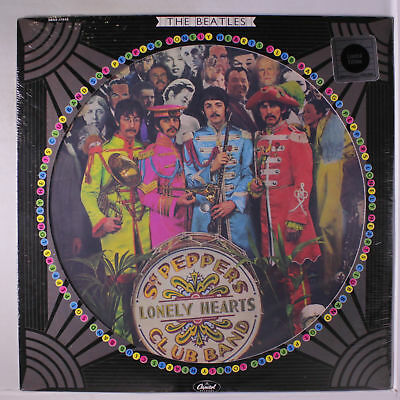 BEATLES: Sgt. Pepper's Lonely Hearts Club Band LP Sealed (pic disc, die-cut cov