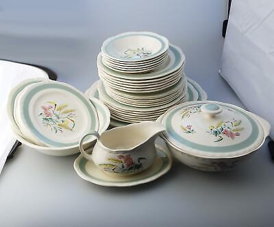 Antique English Pottery : Alfred Meakin Dinner Service 37 pices C. 1945+