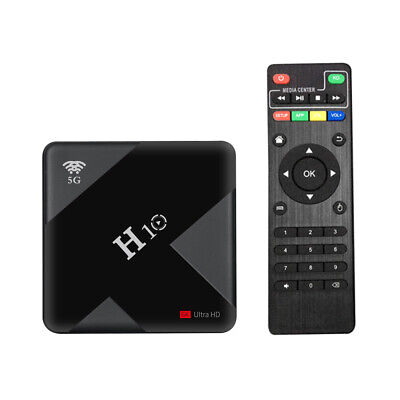 H10 Android 9.0 Smart-TV-Box Mediaplayer HDR H.265 VP9 Allwinner 4+64GB H X0N4