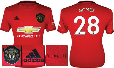 Gomes 28 - 19/20 Adidas Man Utd Home Shirt = Kids Size