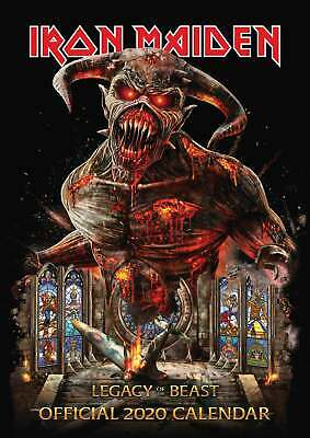 Iron Maiden Official A3 Calendar 2020