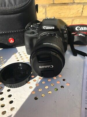CANON EOS 100D 18.0 MP DIGITAL SLR CAMERA KIT WITH EF-S 18-55mm & Case & More!