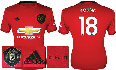 Young 18 - 19/20 Adidas Man Utd Home Shirt = Kids Size