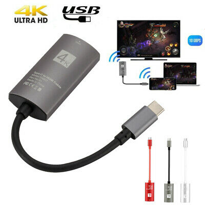 USB 3.1 Type C USB-C to HDMI 4K HDTV Adapter Cable For Samsung Galaxy Note 10