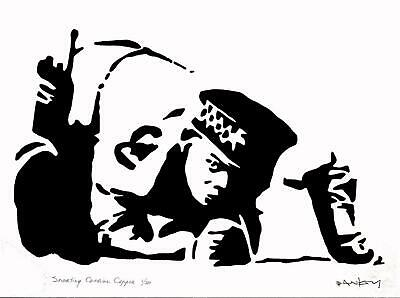 BANKSY LIMITED EDITION * SNORTING COCAINE COPPER * #4 of 50