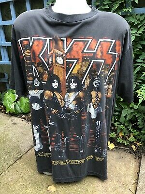 KISS Alive UK Tour 1996 /97 Vintage T-shirt XL band shirt World Tour 1990s