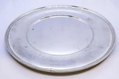 "R Wallace & Sons 925 Sterling Silver 10"" Dinner Sandwich Plate NO MONO 2411"