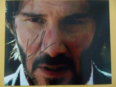 "Keanu Reeves 8x10 Autographed ""John Wick"" Photo"