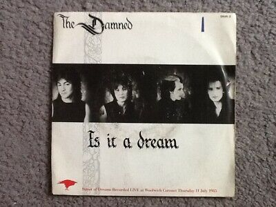 Damned 7in single Is It A Dream - pic sleeve playtested
