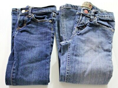 Lot of Two Pairs of Girls Blue Jeans Size 5 Regular