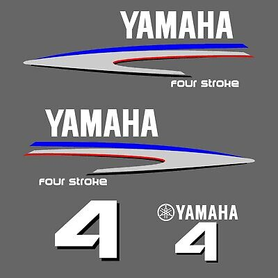 kit stickers YAMAHA 4 cv serie 2 - autocollant capot moteur hord-bord decals