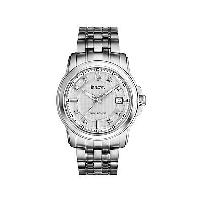 Bulova Men's Precisionist Langford Diamond Accent Calendar 43mm Watch 96D118
