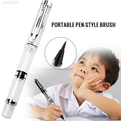 A2F6 B4D2 Fountains Style 17cm Refillable Ink Calligraphy Brush Pen Professional