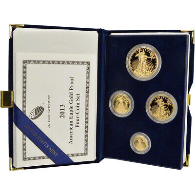 2013 American Gold Eagle Proof Four-Coin Set in OGP
