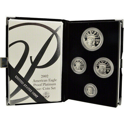 2002 W American Platinum Eagle Proof Four Coin Set in OGP