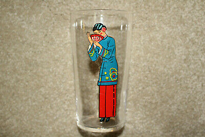 Vintage Risque Drink Glass Asian Lady