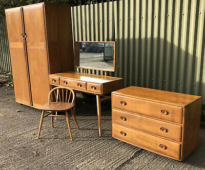 Very Clean Rare Retro  Ercol 4 Piece Bedroom Suite  Fab Condition 2-Man Delivery
