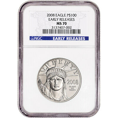 2008 American Platinum Eagle 1 oz $100 - NGC MS70 Early Releases