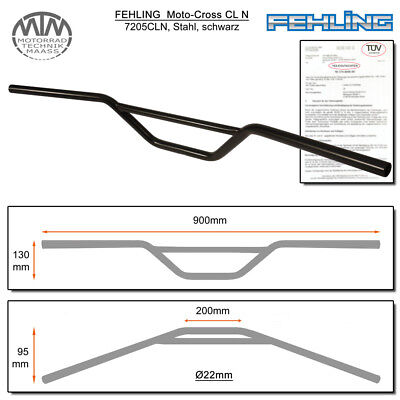 Fehling Moto-Cross Guidon Cln 22mm Noir