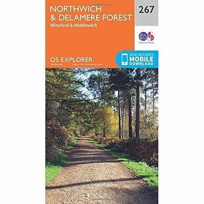 OS Explorer Map (267) Northwich and Delamere Forest, Ordnance Survey, New, Map
