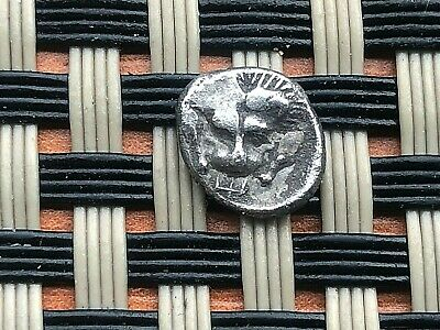 Greek Asia Minor. Ancient Silver Coin Ar Obol Uncertain Mint