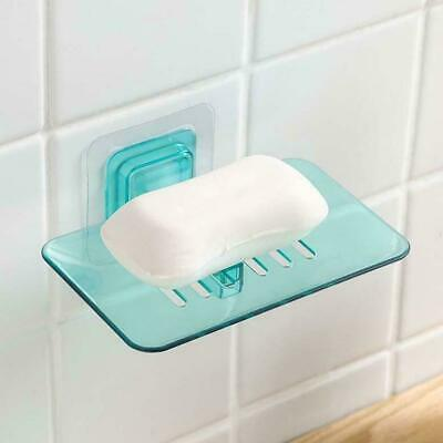 Wall Holder Tray Vacuum Cup Suction Bathroom Rack Soap Dish Shower Holders Frame
