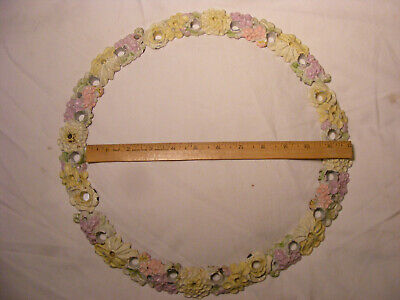 LVL Cast Iron Candle Holder Cake Surround or Birthday Ring Good Condition