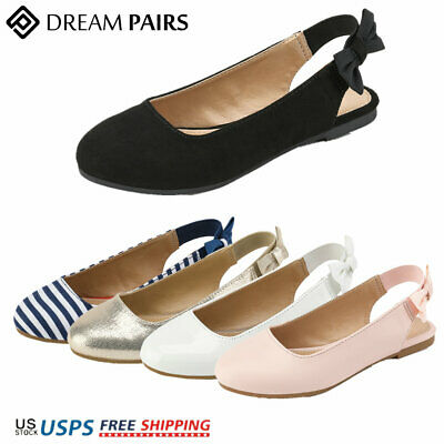 DREAM PAIRS Kids Girls Flat Shoes Comfort Casual Bowknot Slippers Slip On Flats