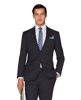 T.M.Lewin Hornsby Slim Fit Jacket in Navy Twill Wool
