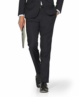 T.M.Lewin Hornsby Slim Fit Suit Trousers in Navy Twill Wool