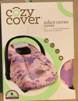 Cozy Cover Infant Baby Car Seat Carrier Cover Pink Camo Fleece Lined Washable