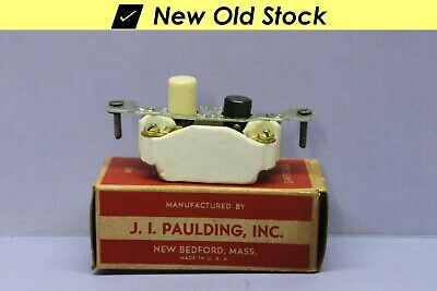 ✅ Vintage Push Button Light Switch, Single-Pole On/Off Porcelain - Paulding