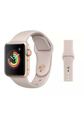 Brand New Apple Watch Series 3 GPS Gold with Pink Sport Band MQKW2LL/A