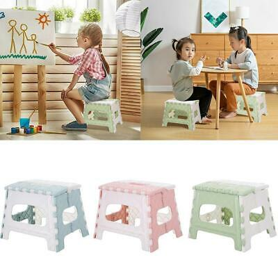 Portable Plastic Multi Purpose Folding Step Stool Train Outdoor Storage