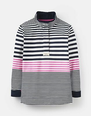 Joules 208620 Classic Sweatshirt in NAVY AND PINK STRIPE