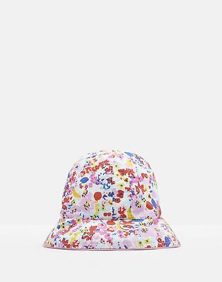 Joules Baby Sunseeker Reversible Bucket Hat in WHITE DITSY