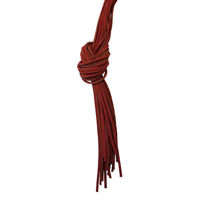 """72"""" Bulk Genuine Leather Heavy Duty Boot Lace - Red"""