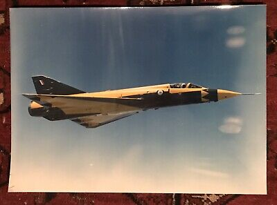 Large Old Photo RAAF MIRAGE FIGHTER JET c1965 Painted Yellow For Calibration