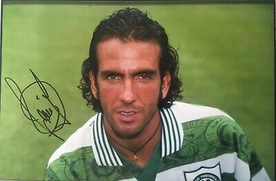 Paolo Di Canio signed Celtic Image A 12x8 photo UACC Registered dealer AFTAL