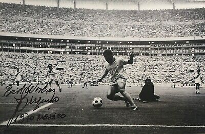 Jarzinho signed 12x8 Brazil photo UACC AFTAL RACC registered dealer image B