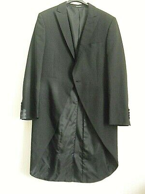 """Wilvorst"" Black Tailcoat With Shadow Stripe Size 38 Chest"